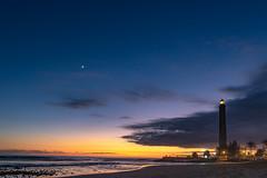 Maspalomas Faro (derüsch) Tags: 2018 canon eos 760d sommer summer faro leuchtturm gran canaria nacht night strand beach