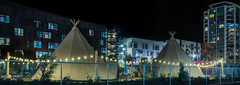 stagecoach greens beer garden (pbo31) Tags: bayarea california nikon d810 color october 2018 fall night dark boury pbo31 sanfrancisco city urban black missionbay indian tent teepee stagecoach greens beer garden panorama large stitched panoramic architecture contemporary