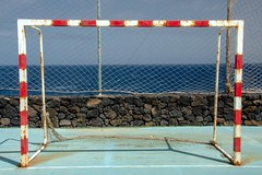 Abandoned / Abandonado (López Pablo) Tags: goal sky fence rust lacaleta elhierro rush red blue green sea nikon d7200 urban canary island spain lines
