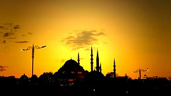 Istanbul (maryduniants) Tags: nightlights yellow orange mosque mosques silhouette city sunset turkey istanbul