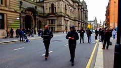 Scotland Glasgow filming of the new Fast and Furious film Hobbs and Shaw the McLaren car chase by motorbikes video 3 24 October 2018 by Anne MacKay (Anne MacKay images of interest & wonder) Tags: scotland glasgow city street streets filming fast furious film hobbs shaw mclaren super car motorbikes crew drone 24 october 2018 video by anne mackay