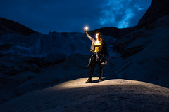 Into the light (aylavanderwal) Tags: norway glacier nigardsbreen night photography ice nature outdoor