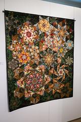 Fancy Mennonite quilt (quinet) Tags: abbotsford britishcolumbia canada mennonitemuseum steppdecke vancouver courtepointe quilt
