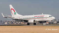 CN-RNM  Boeing 737-7B6 - Royal Air Maroc (Peter Beljaards) Tags: nikon nikon7003000mmf4556 aviationphotography cnrnm boeing737 737 boeing ram royalairmaroc airplane jetliner passengerjet ams eham polderbaan rwy18r 18r schiphol msn28984 2xcfm567 nikond5500