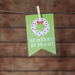 Christmas card hanging on rope thumbnail