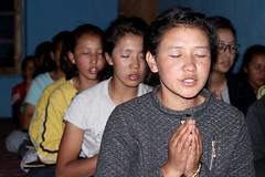 Prayers after my presentation, Wanla Secondary, image: S Jigmet