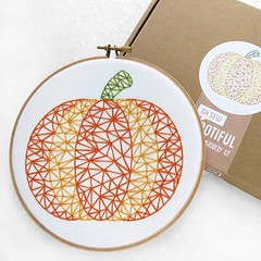 Discontinued.... There are just 2 more #pumpkin kits left! 👻 Its a great kit for a novice to dip their toe into the world while making a fab #halloween decoration. These #geometric designs are also great if your wanting to teach a child the basics o (ohsewbootiful) Tags: ifttt instagram embroidery etsy etsyuk gifts giftsforher homedecor hoopart fiberart handembroidery handmade etsyseller embroideryhoop shophandmade handmadegifts decor wallhanging bestofetsy instaart hoopsofinstagram madebyme stitchersofinstagram