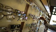 Choosing colourful frames (PChamaeleoMH) Tags: clapham glasses lenses london northcoteroad optician wandsworth