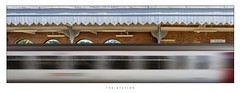 The Station... (Steven Allen2013) Tags: panorama pano composite suffolk woodbridge photoshop motionblur motion railway station train