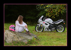 Rest Stop (Peter Camyre) Tags: kawasaki photoshoot jen bike quabbin reservoir pictures female model friend people bikers girl rider peter camyre photography