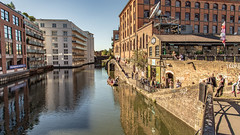 """Regents Canal, otherwise known as """"Little Venice"""" (Ian Emerson (Thanks for all the comments and faves) Tags: canal london camden lock water buildings architecture reflection capital people narrowboat indusrty industrial sunny canon outdoor towpath"""