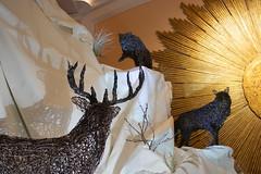 Pack Attack (derekbruff) Tags: artprize grandrapids jeffbest art buck sculpture shadow wolves