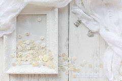 300/365: Shades of white (judi may) Tags: 365the2018edition 3652018 day300365 27oct18 october2018amonthin31pictures white shadesofwhite buttons frame framesandfrippery stilllife flatlay canon5d 50mm