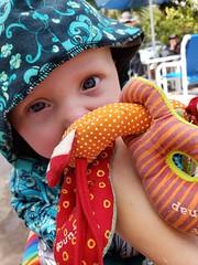 Eliza and crab (quinn.anya) Tags: eliza baby crab jellystonepark