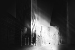 ...fadingmemories.. (*ines_maria) Tags: paris defense district financial modern center business city building future skyline architecture blue cityscape construction corporate europe facade france french futuristic glass landmark life major office panorama skyscraper square tower urban man bw monochrome blackandwhite panasonicdcgh5 gh5