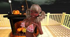 Trick or Treat! (Liruu) Tags: secondlife anime asr fittedmesh bikini suntan