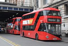 AL LT783 and LT630 @ London Waterloo train station (ianjpoole) Tags: abellio london wright borismaster ltz1783 lt783 ltz1630 lt630 working route 211 waterloo train station hammersmith bus