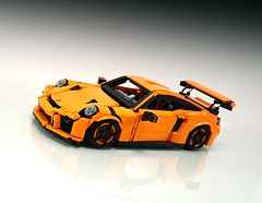 "LEGO MOC Porsche 911 GT3 RS (Firas Abu-Jaber) Tags: lego legocar legomoc lugnuts legomodel legocreation legofiras creator creation car"" supercar scalemodel sportscar moc modelteam model porsche gt3 rs facebook firasabujaber gt hot abujaber mocpages orange afol afols classic volkswagen vehicle legovehicles legovehicle"