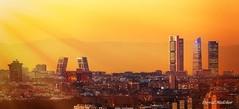 Skyline (dmelchordiaz) Tags: skyline madrid sky spain sunset sun ray canon 5d3 5diii 300 28 is warm color colour buildings city country tower 4 skyscraper landscape
