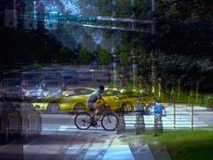 Suburban cycling (Thiophene_Guy) Tags: thiopheneguy originalworks olympustoughtg4 tg4 olympustg4 olympusstylustg4 muybridgeperspective movingsubjectreferenceframe aleatoric