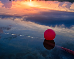 Sunrise Buoy (DASEye) Tags: davidadamson daseye nikon sunrise reflected reflections reflection buoy buoyant