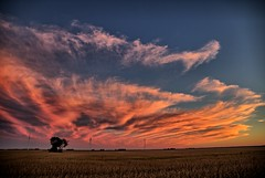 Sunset Clouds at Fithian (Ray Cunningham) Tags: clouds sunset fields fithian illinois