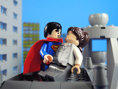 Clark and Lois (-Metarix-) Tags: kego superhero minifig dc comics action superman lois lane clark kent metropolis city skyscraper husband wife