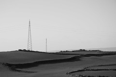 Landscape (FGerardi) Tags: black white blackandwhite landscape sea ground sky clouds sun strada linee cielo erba