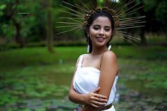 Tersenyumlah (a.k.a Rujakandroid.) Tags: portrait peopele fashion smile asian outdoor model girl bokeh