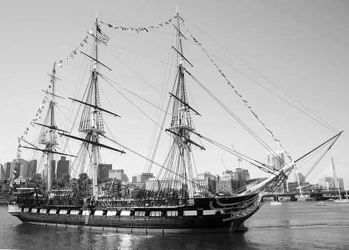 Tugging the USS Constitution, variant