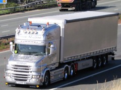 Frank Hudson, Scania T Cab (Customised)  On A1M (Gary Chatterton 4 million Views) Tags: frankhudson scaniatrucks scaniatcab customised transport haulage truck trucking wagon lorry hgv heavygoodsvehicle flickr explore photography canon motorway motorwaybridge a1m