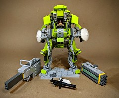 """Power Swine"" assault mech (vikingforhire) Tags: legomech lego technique war military future mecha bot scifi"