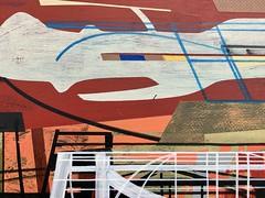 James Wallace Harris: Wotton-under-Edge. (Jim Harris: Artist.) Tags: art arte painting peinture lartabstrait landscape geometrický geometric abstract modern maalaus málverk malerei målning futurism futuristic