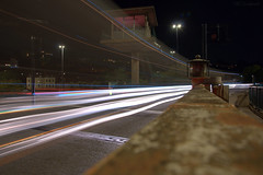 Tripping The Light Fantastic (HiJinKs Media...) Tags: longexposure lights lightpainting lighttrails night nightphotography lines bristol forcedperspective rusty textures texture streetlight steel windows stairs vehicles road traffic railings path architecture signs roadsigns