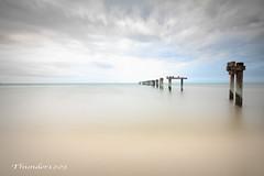 Seaford Pier (Thunder1203) Tags: melbourne australia victoria portphillipbay canoneos80d landscape sky clouds cloudport seascape water longexposure seafordpier