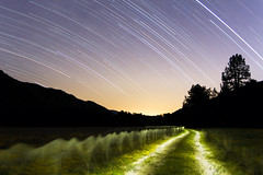 Illuminated Path (Chris Skopec) Tags: afterdark california camping lightpainting nightshots romona sausagejaunt startrails warnersprings cwsnextport landscapes loscoyotesindianreservation mountains nighttime recent wilderness