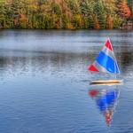 Lake Placid  - New York - Sail Boat Reflection thumbnail