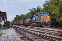 CSX N303-10 at Nashville, TN (KD Rail Photography) Tags: csx howtomorrowmoves qualityinmotion ge generalelectric gevo urbanrailroad nashville tennessee tennesseevalley middletennessee coaltrains coal unittrains et44ah cw44ah trains railroads transportation diesellocomotive diesel locomotive overcastmorning overcast fallcolors fallseason