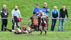 One on one now (Steve Barowik) Tags: yorkshire westyorkshire nikond500 barowik leeds ls26 stevebarowik sbofls26 rugbyleague rl nationalleague 70200mmf28gvrii sport competition try conversion penalty sinbin referee linesman ball pitch sticks posts team watercarrier dx cropframe kick pass offload dropkick forwardpass centre wing prop forward back fullback unlimitedphotos wonderfulworld quantumentanglement shawcrosssharks thornhilltrojans nationalconferencedivisionone