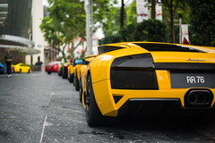 Black and yellow (TAF27) Tags: lamborghini murcielago lp640 murcielagolp640 gialloorion singapore singaporef1