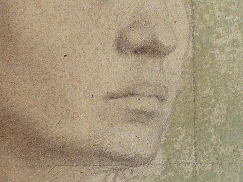 DEGAS Edgar,1858-67 - La Famille Bellelli, la Baronne Laura Bellelli, Etude (Louvre RF11688) - Detail 33