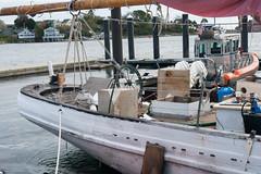 Stern...projects underway (desert11sailor) Tags: sylvinawbeal schooner sailboat harbor redsail haroldburnham gloucester