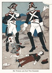 Page 119: Two Soldiers (The Right Reverend Ferris) Tags: pinocchio illustration childrensbooks artdeco
