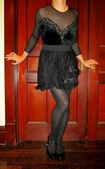 goth1 (sensuousPH) Tags: goth lolita bodysuit velvet pantyhose tights crossdresser satin pumps heels leotard mocksuspendertights maryjanes