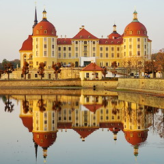 Moritzburg (akovt) Tags: castle schloss burg sachsen water reflection germany mirror evening