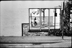 Windowselfie Ghent (Castenada) Tags: analogue film 35mm street photography blackwhite belgium ghent composition abstract window mirror selfie expired