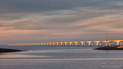 Zeelandbrug (BraCom (Bram)) Tags: 169 5km bracom bramvanbroekhoven deval holland nederland netherlands oosterschelde schouwenduiveland zeeland zeelandbridge zeelandbrug zierikzee bridge brug cloud dam herhaling landscape landschap morning ochtend repetition sky sunrise water widescreen wolk zonsopkomst nl