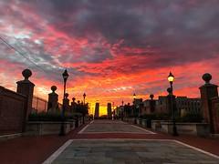 Penns Landing Walnut Street Bridge (dweible1109) Tags: pennsylvania philadelphia clouds skyline skyscape sky sunrise walnutstbridge penn'slanding
